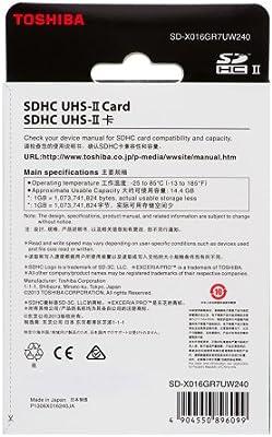 TOSHIBA SD Card Memory Card 16GB EXCERIA PRO SDHC UHS-II UHS2 U1 Read 260MB//s Write 240MB//s