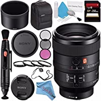 Sony FE 100mm f/2.8 STF GM OSS Lens SEL100F28GM + 72mm 3 Piece Filter Kit + 72mm Macro Close Up Kit + 256GB SDXC Card + Lens Pen Cleaner + Fibercloth + Lens Capkeeper + Deluxe Cleaning Kit Bundle