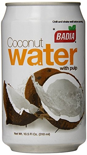 Badia Coconut Water with Pulp, 10.5 ounce Cans (Pack of 12)