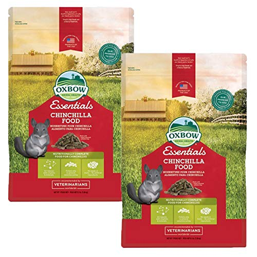 Timothy Food Complete Chinchilla - Oxbow Essentials - Chinchilla 3lb, 2 Pack