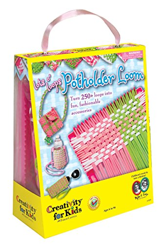 (Creativity for Kids Lot's O'Loops Potholder Loom - Weaving Loom for Kids)