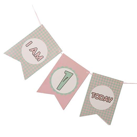 P Prettyia Bunting Banner de Feliz Cumpleaños de Infantil ...