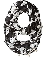 Calvin Klein Women's Inked Floral Infinity Scarf with Tassels