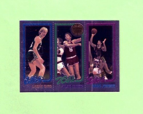 Larry Bird Magic Johnson 1980 Topps Chrome Reprint Basketball Rookie Card (Boston Celtics) (Los Angeles (1980 Larry Bird)