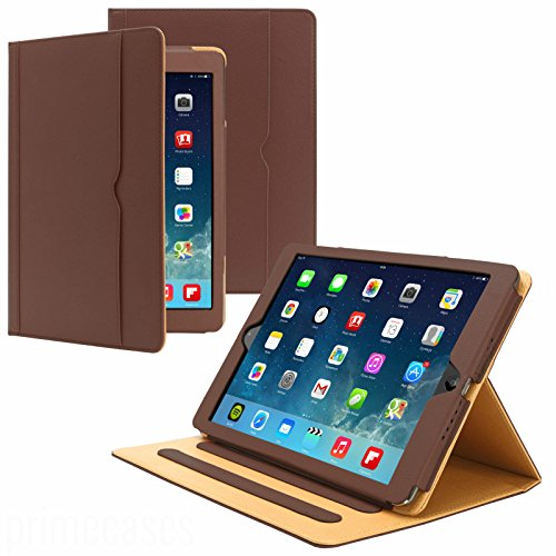 New S-Tech Apple iPad Mini 4 Soft Leather Wallet Smart Cover with Sleep / Wake Feature Flip Case for Apple iPad Mini 4 (Brown) - New Tech Mini