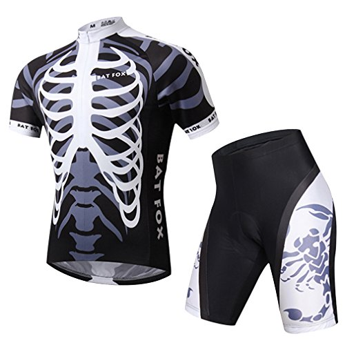 cycling-jerseys-adiprod-mens-bicycle-jersey-clothing-padded-shorts-sleeve-cycling-wear-uniforms-2x-l