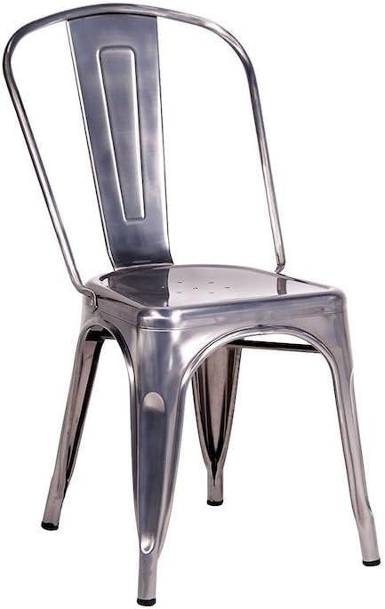 45x50x60 cm 1 Unit/à Fashion Commerce Tolix Sedie Argento Metallo