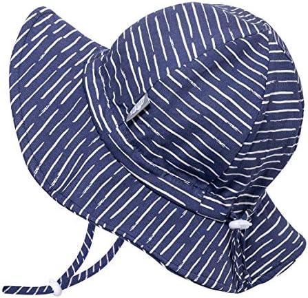 Jan & Jul Baby, Kleinkind, Kinder, Breite Krempe UV Schutz 50 Baumwoll-Sonnenhut verstellbarem Kinnriemen