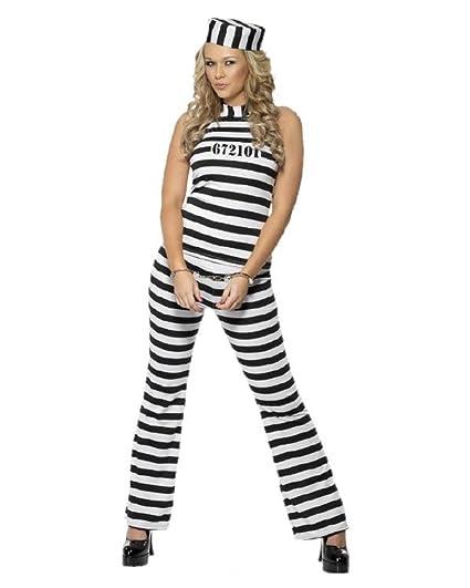 sulle immagini di piedi di miglior valore acquisto economico Smiffy's Costume CARCERATA Femme Carnaval Déguisement ...