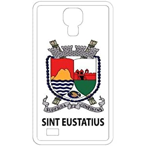Sint Eustatius - Country Coat Of Arms Flag Emblem White Samsung Galaxy S4 i9500 Cell Phone Case - Cover