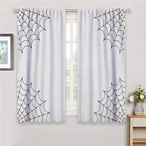 GUUVOR Spider Web for Bedroom Blackout Curtains