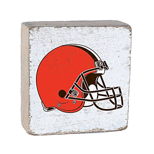 NFL Cleveland Browns, White Background Team Logo Block by Rustic Marlin 6