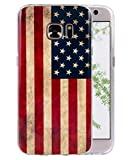 Samsung Galaxy S7 Case, FLYEE Fashion Style Colorful Painted Soft Slim Flexible TPU Back Cover Rubber Case for Galaxy S7 - USA Flag