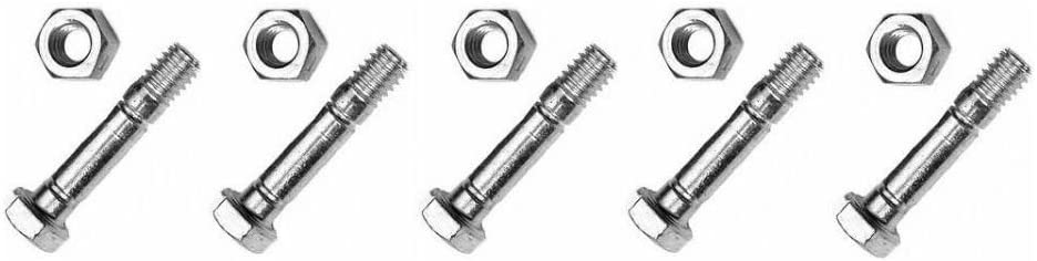 10 SHEAR PINS /& BOLTS for Craftsman 88289 Stens 780-043 Rotary 8627 Snowblower