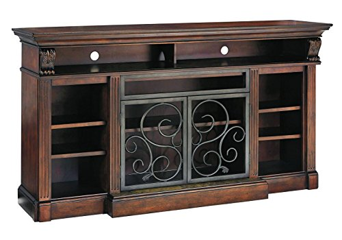Ashley Furniture Signature Design - Alymere TV Stand - Fireplace Option - Traditional - Rustic Brown (Flat Scrolled)