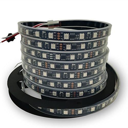 IKSACE 16 4ft WS2811 300LEDs DC 12V Addressable Programmable Dream Color  LED Digital Strip Pixel Strings 5050 RGB Flexible Colorful Rope LED strip