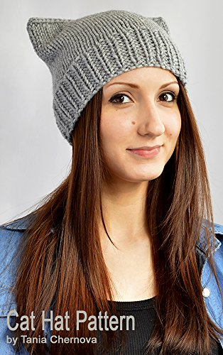 Cat Hat Knitting Pattern Knit Hat Pattern Cat Ears Cat Beanie ...