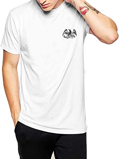 Fashionkilla - Camiseta con Logo de águila y Estrellas para Hombre (XXL) (Blanco): Amazon.es: Ropa y accesorios