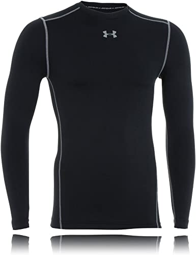 UNDER Armour UA HeatGear SHIRT BASE LAYER COMPRESSION Long Sleeve Men Crew Neck