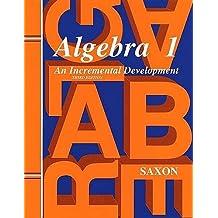Saxon Algebra 1 Home Study Kit Third Edition