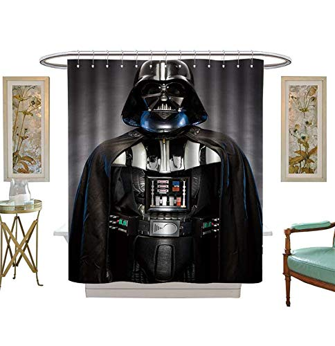 Miki Da Shower Curtains with Shower Hooks SAN Benedetto DEL TRONTO,Italy May,Portrait of Darth Vader Costume Replica Satin Fabric Sets Bathroom Size:W36 x L72 inch -