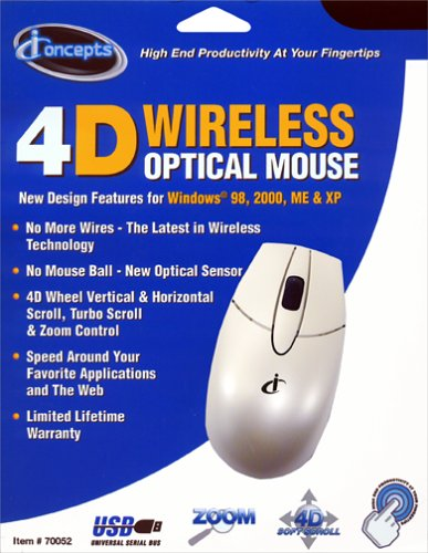 c5599e2fd50 Image Unavailable. Image not available for. Color: I Concepts 4D Wireless  Optical Mouse