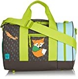 Lassig Kids School Bag Sports Football Basketball Baseball Swim Duffle Bag Gym Bag, Little Tree Fox