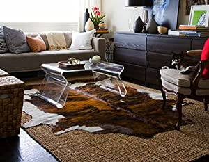 brindle white belly cowhide rug on sale cow hide skin leather area rug xl