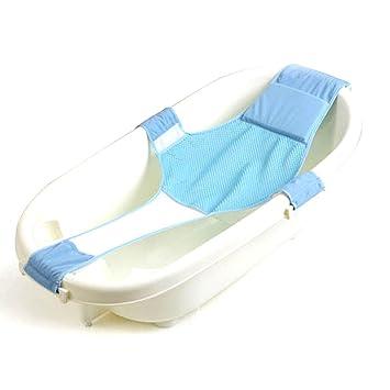 Baby Bath Support Seat Adjustable Newborn Bath Seat Support Net Comfortable Infant Bath Support Sling Non-Slip Mesh Bathing Cradle Rings for Tub