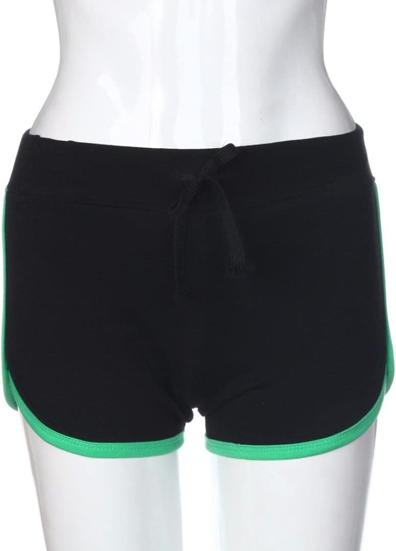 U.Expectating Women Short Summer Drawstring Short Pants Women Girls Sport Shorts Gym Workout Waistband Skinny Yoga Casual Elastic Shorts
