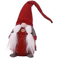 Barbe Braid Bouton d'arbre de Noël de Noël GNOME Tumbler Vêtements Debout Père Noël Toy Doll Hanging Wizard Mur Souvenirs