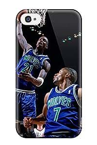 New Arrival Iphone 4/4s Case Sports Nba Basketball Kevin Garnett Minnesota Timberwolves Houston Rockets Case Cover