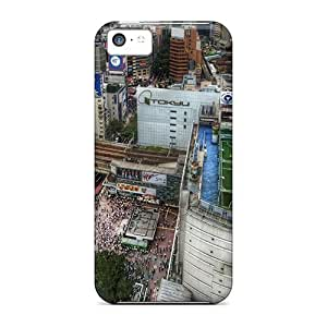 MEIMEIAnti-scratch And Shatterproof Soccer Field On Tokyo Rooftop Phone Cases For iphone 6 plus 5.5 inch/ High Quality CasesMEIMEI