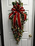Good looking 40'' Christmas Swag, Artificial Swag, LED Lights w/Timer FREE SHIPPING