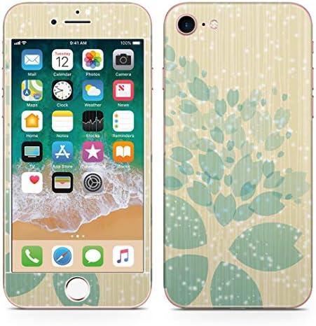 igsticker iPhone SE 2020 iPhone8 iPhone7 専用 スキンシール 全面スキンシール フル 背面 側面 正面 液晶 ステッカー 保護シール 004813 フラワー 桜 イラスト