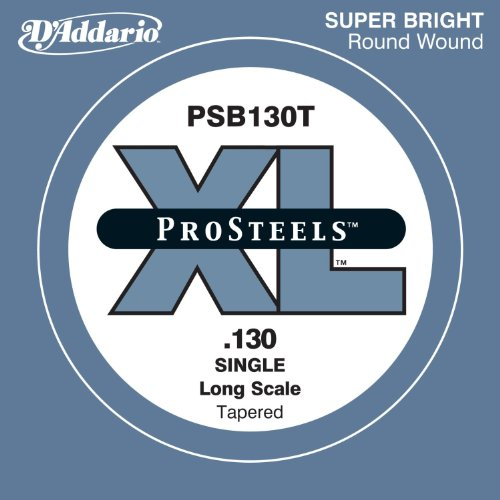 D'Addario PSB130T ProSteels Bass Guitar Single String, Long Scale, .130, ()