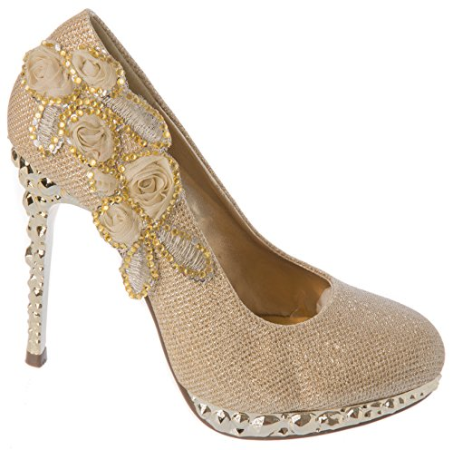 Rhinestone Women Shoes Gold Evening Sight Sandal First Dress q48aw6pFxT