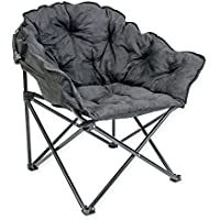 Fully Padded with with Extra Cushioning Lightweight Folding Club Chair (Black)