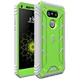 Poetic LG G5 Case, Revolution Series [Premium Rugged][Shock Absorption & Dust Resistant] Complete Protection Hybrid Case w/Built-In Screen Protector for LG G5 (2016) Green/Gray