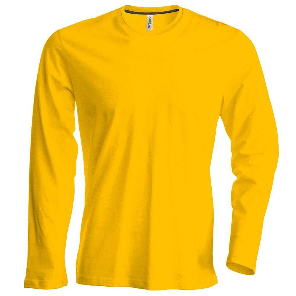 TALLA M. Hombre Camiseta de Manga Larga Cuello Redondo Camiseta, fácil körperbetont, en 20Colores y los tamaños S, M, L, XL, 2x l, 3x l y 4XL de noTrash2003