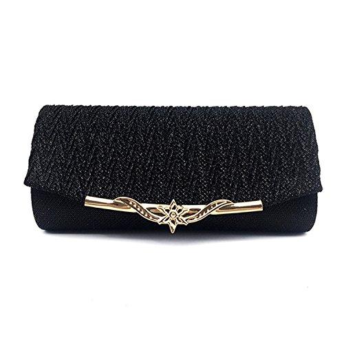 Handbag Availcx Bag Party Banquet Glitter 2018 Chain Black Clutches Shoulder qqTHgCw