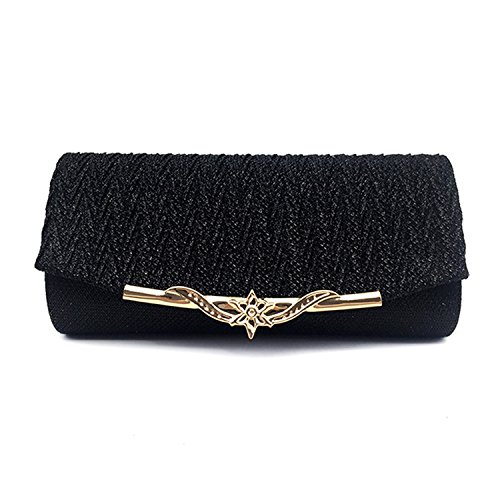 Banquet Shoulder Party Chain 2018 Bag Clutches Handbag Glitter Availcx Black qEnvHxgg