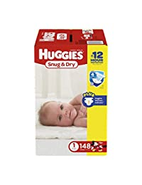 HUGGIES Snug & Dry Diapers, Size 1, 148 Count (Packaging May Vary) BOBEBE Online Baby Store From New York to Miami and Los Angeles