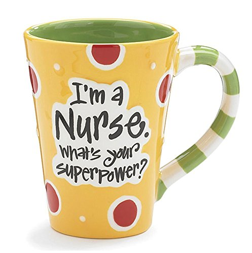 Nurse 12 Oz Coffee Mug/cup with I'm A Nurse What's Your Super Power? Great Gift For Nurses by Burton
