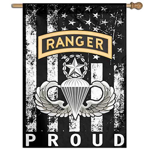 - JANLAGERFLAG Master Parachutist with Ranger Tab License Proud American Flag 27