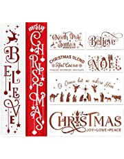 Christmas Stencils for Painting On Wood Holiday Christmas Stencil Believe Xmas Painting Stencils for Wall Porch Glass Wood Fabric