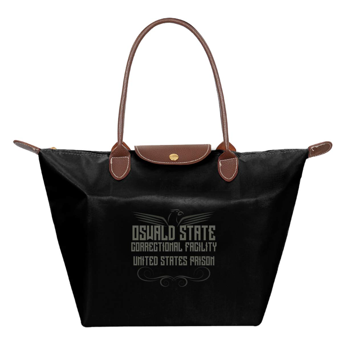 Oswald State Correctional Facility Oz Waterproof Leather Folded Messenger Nylon Bag Travel Tote Hopping Folding School Handbags