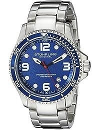 Stuhrling Original Men's 593.332U16 Aquadiver Grand Regatta Swiss Quartz Diver Date Blue Watch