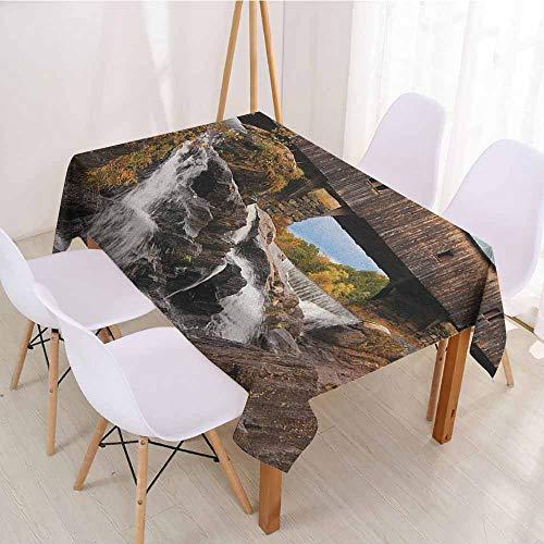 ScottDecor Rectangular Polyester Tablecloth Fabric Tablecloth W 52