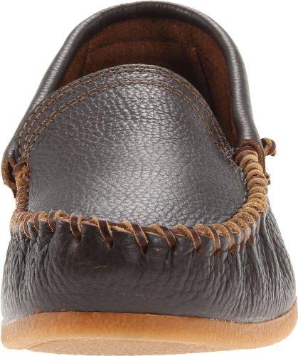 Minnetonka 969 - Zapatos cerrados de cuero para hombre Café Oscuro